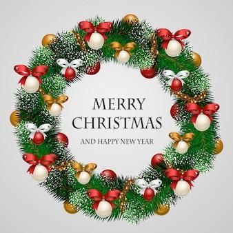 Schön verzierter feiertags-weihnachtskranz