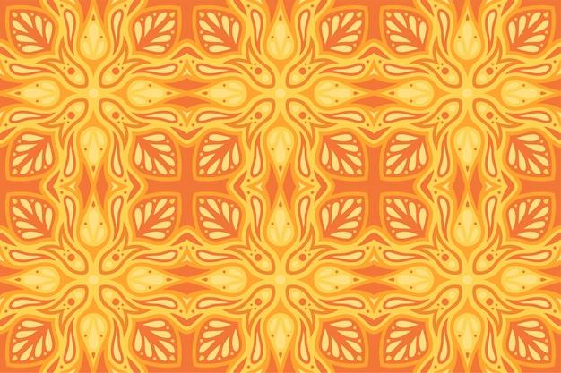 Schöne abstrakte orange illustration mit heißem flammendem nahtlosem muster