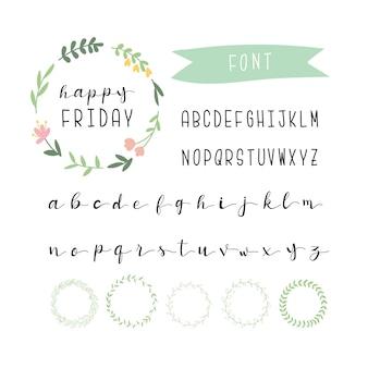Schöne alphabet sammlung