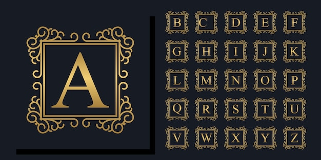 Schöne alphabetblumensammlung
