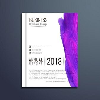 Schöne aquarell-business-broschüre vorlage