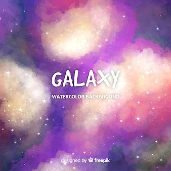 Schöne aquarell galaxie hintergrund