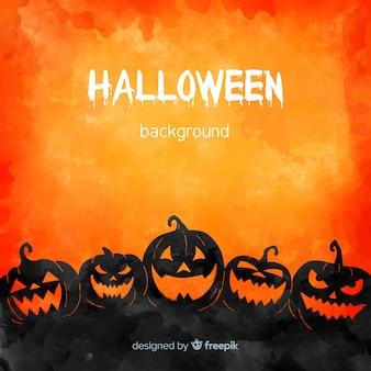Schöne aquarell halloween hintergrund