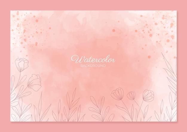 Schöne aquarell rosa hintergrundvorlage