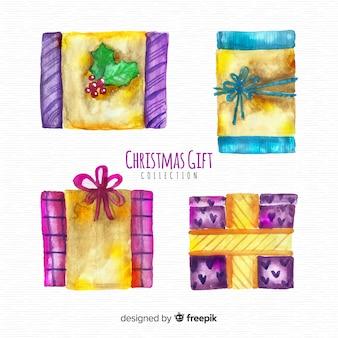 Schöne aquarell weihnachtsgeschenk sammlung