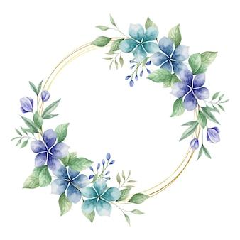 Schöne aquarellblaue blumen