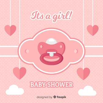 Schöne baby-dusche-hintergrund