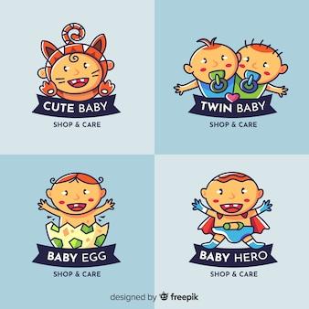 Schöne baby-shop-logo-kollektion