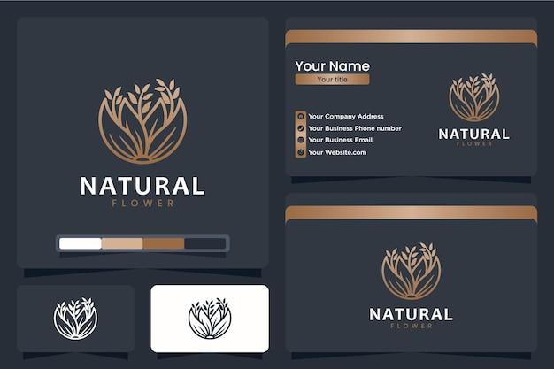 Schöne, blumen-, logo-design-inspiration