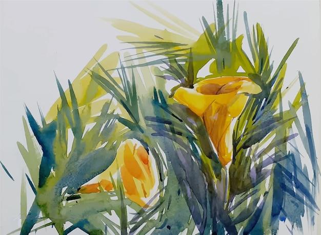 Schöne blumenaquarellskizzenhand gezeichnete illustration