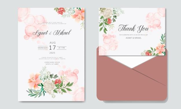 Schöne blumenhochzeits-einladungskarten