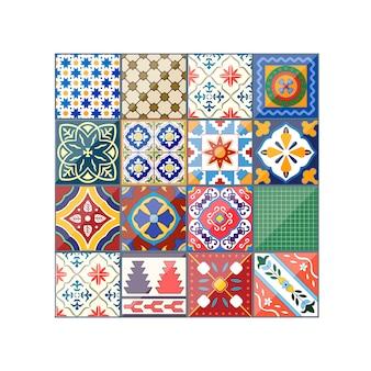 Schöne bunte hintergrund azulejo fliesen