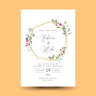 Schöne dekorative grußkarte oder einladung mit blumenmuster