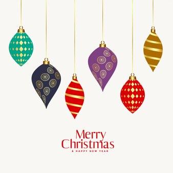 Schöne dekorative weihnachtskugeln