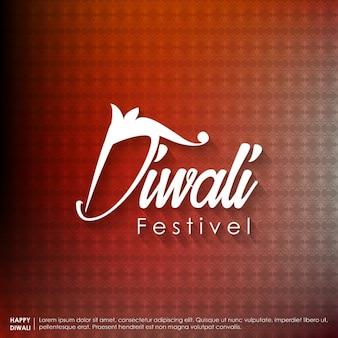 Schöne diwali textentwurf mit paterns hintergrund