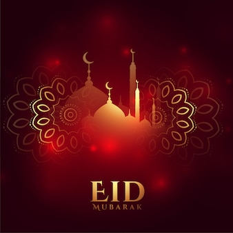 Schöne eid mubarak wünscht grußkarte