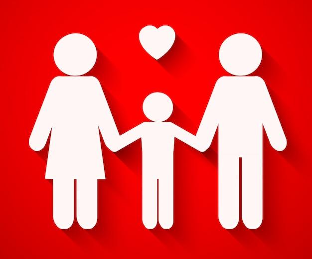 Schöne familien-silhouetten