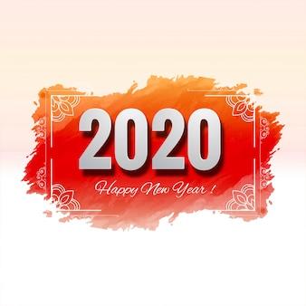 Schöne feierkarte des neuen jahres des festivals 2020
