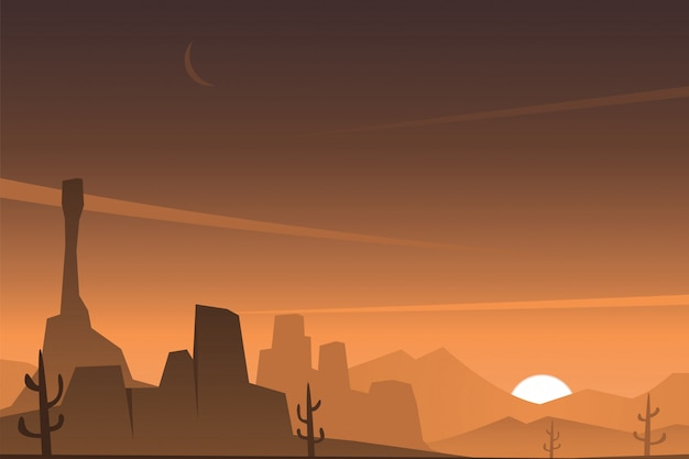 Schöne felsige wüstenszene