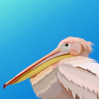 Schöne flamingoillustration