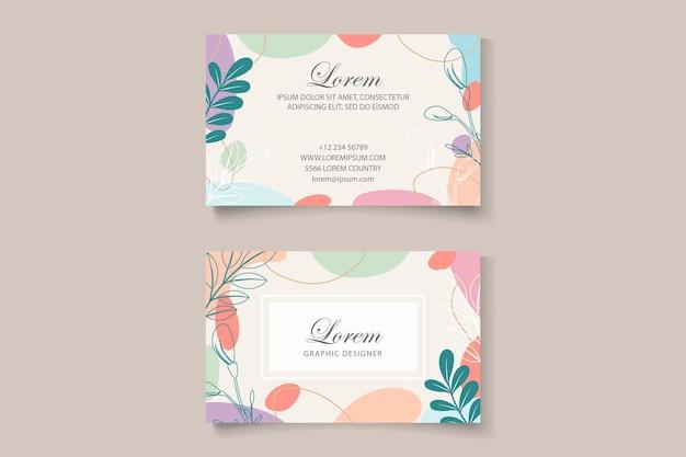 Schöne florale visitenkartenvorlage