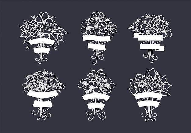 Schöne flower cut file dekoration