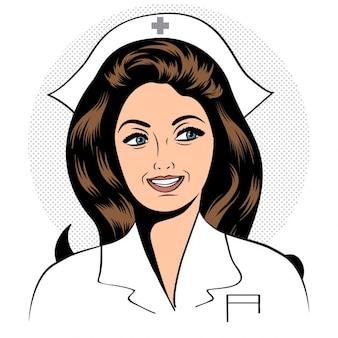 Schöne freundlich und zuversichtlich krankenschwester