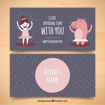 Schöne freundschaftskarte mit emotionalen ausdruck