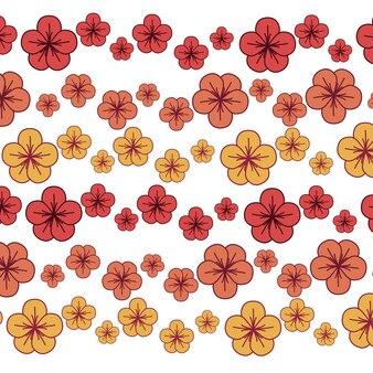 Schöne frühlingsblumenikone