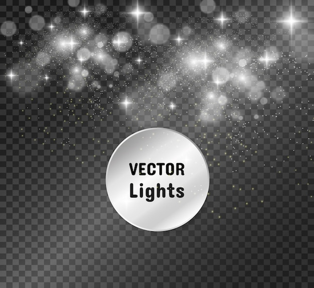Schöne funken leuchten mit besonderem licht. funkelt. abstraktes weihnachtsmuster.