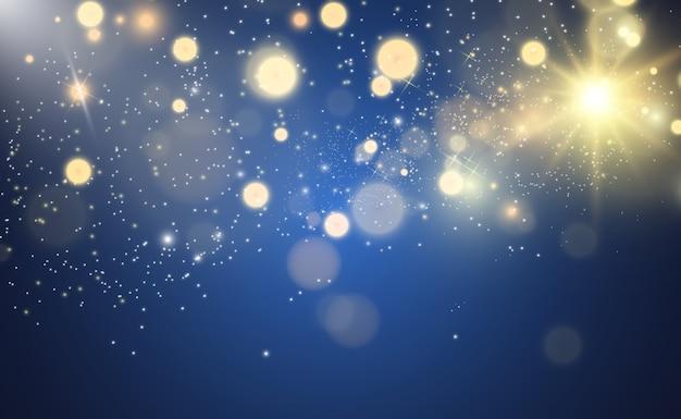 Schöne funken leuchten mit besonderem licht. funkelt.