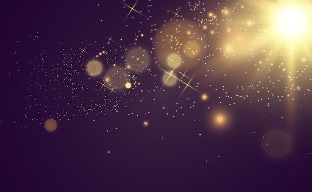 Schöne funken leuchten mit besonderem licht vector funkelt auf transparentem hintergrund weihnachten ab