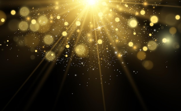 Schöne funken leuchten mit besonderem licht vector funkelt auf transparentem hintergrund