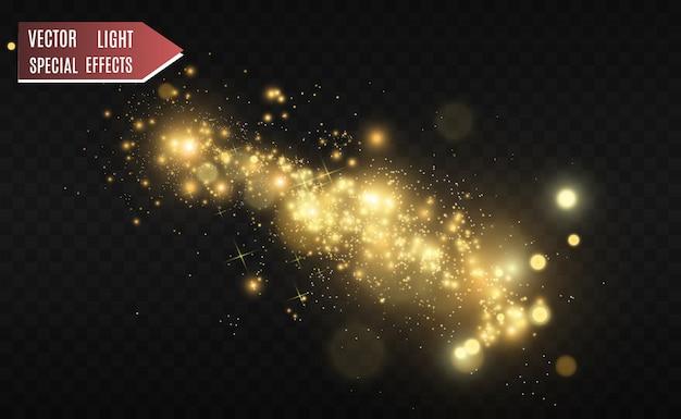 Schöne funken leuchten mit besonderem licht. vektor funkelt auf einem transparenten hintergrund. abstraktes weihnachtsmuster. eine schöne illustration für die postkarte. der hintergrund für das bild. leuchten.
