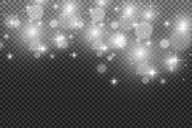 Schöne funken leuchten mit besonderem licht. vektor funkelt.