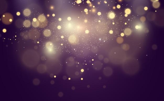 Schöne funken leuchten mit besonderem licht.