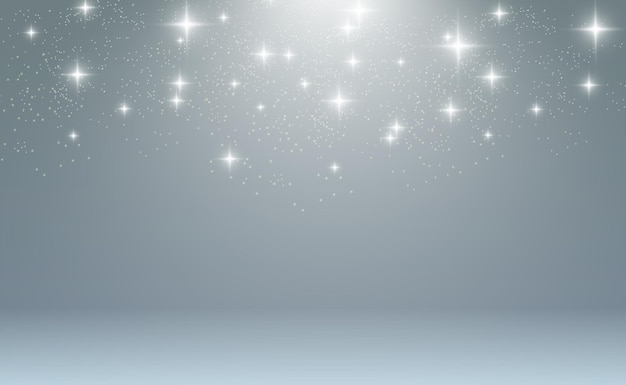 Schöne funken leuchten mit besonderen lichtfunkeln auf transparentem hintergrund weihnachten ab