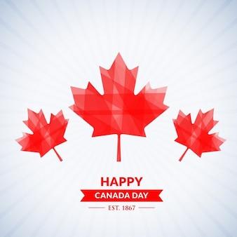 Schöne glücklich hintergrund kanada-tag