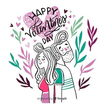 Schöne glückliche valentinsgrußbeschriftung