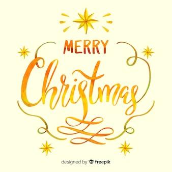 Schöne goldene beschriftung der frohen weihnachten
