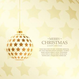 Schöne goldene weihnachtskugeln design feiertagsgruß