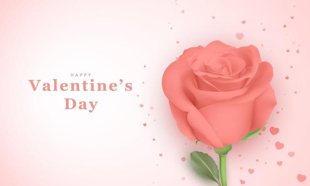 Schöne grußkarte für valentinstag
