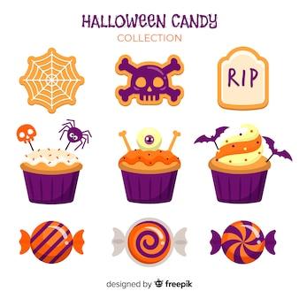 Schöne halloween-süßigkeiten-sammlung