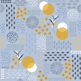 Schöne hand gezeichnete kreative künstlerische moderne linie skecth und schattenbildblumen-form entwerfen für mode, gewebe, tapete und alle drucke
