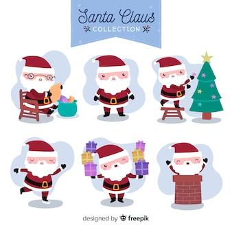Schöne hand gezeichnete weihnachtszeichensammlung