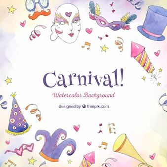 Schöne hand gezeichneter karnevalshintergrund