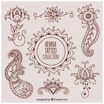 Schöne henna-tattoos