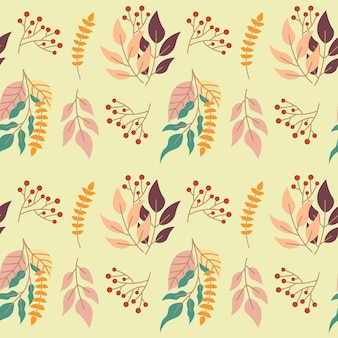 Schöne herbstblume nahtlose muster hintergrund