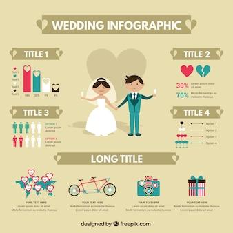 Schöne hochzeit infografik