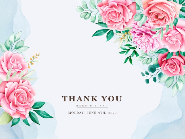 Schöne hochzeitseinladungskarte mit aquarellblumenkranz